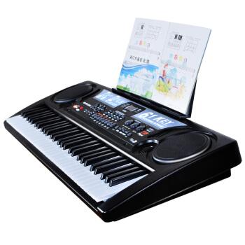【特恵618ショッピングデー】かわいい赤ちゃん電子キーボンド子供54鍵盤初学入門音楽電子ピアノ女の子のアップグレードUSB版61鍵盤+マイク+琴譜/琴貼+教程