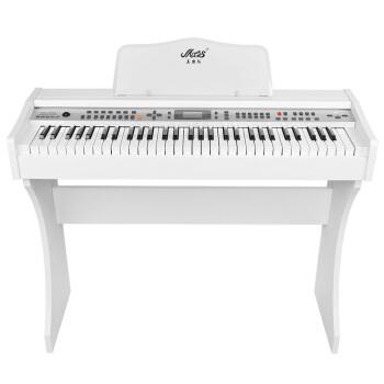 美乐斯(Miles)美乐斯61鍵盤電子キーパッド初心者電子キーボーボードゥ仿ピアノ鍵盤専門教学大人電子ピアノ白+礼装バッグ