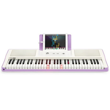 壹(The ONE)The ONEインテリジェントピアノ電子キーボンド61鍵盤電子キーボーボー61鍵盤電子キーボンドドド壹_専門子供用ピアノパープル