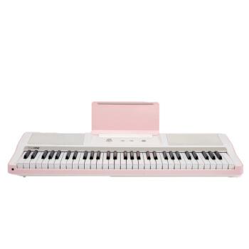 スマートピアノ61鍵盤スマート電子キーボンド強度キーボード壹電子ピアノ電気ピアノチェリーピンク【61鍵盤】