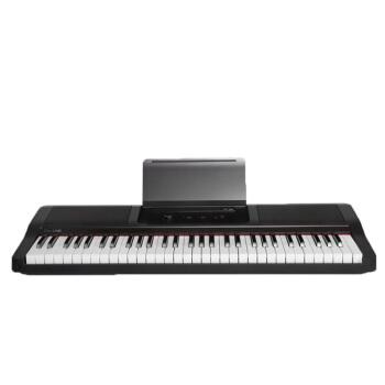 スマートピアノ61鍵盤スマート電子キーボンド強度キーボード壹電子ピアノファッション黒【61鍵盤】