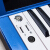 音楽猫(MUSIC-CAT)スマートエレクトリックピアノデジタル電子キーボンド非88鍵盤ハンマー初心者とピアノの練習のための大人の子供用ブルー