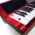 音楽猫(MUSIC-CAT)インテリジェントエレクトリックピアノデジタル電子キーボンド非88鍵盤ハンマー初心者とピアノの練習のための大人の子供用赤