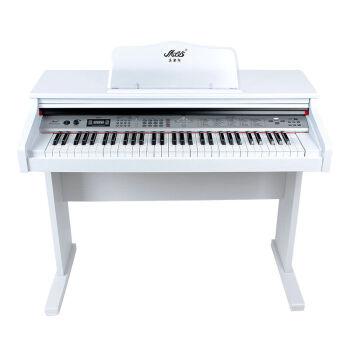 メロスMLS-9929電子キーボンド61鍵盤電子ピアノ力鍵盤教育はピアノのまねをします。9929白+プレゼントです。