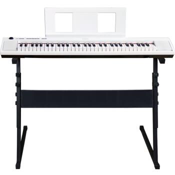 ヤマハ(YAMAHA)ヤマハピアノインテリジェントエレクトリックピアノ子供子供子供子供用電子キーボードド61キー/76キーNP 32ホワイト76ボタン+琴架+琴包全部セット