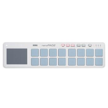 KORG科音NANO KEY 2/PAD 2/KONTROL 2 MIDIコントローラ白い三点セット(key 2 pad 2 trolを含む)