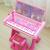 子豚のペイジ子供電子キーボンドはマイクを持って女の子のおもちゃの机の琴の赤ちゃんの誕生日プレゼントの小さいピアノの机のピアノのブタのペイジの高級版を持ちます。
